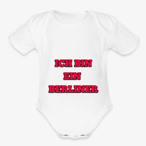 ICH BIN EIN BERLINER - Organic Short Sleeve Baby Bodysuit
