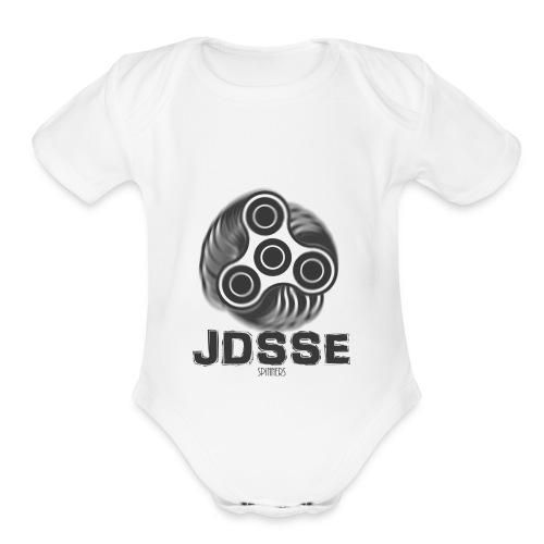 jdsse spinners - Organic Short Sleeve Baby Bodysuit