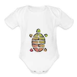 Turtle - Short Sleeve Baby Bodysuit