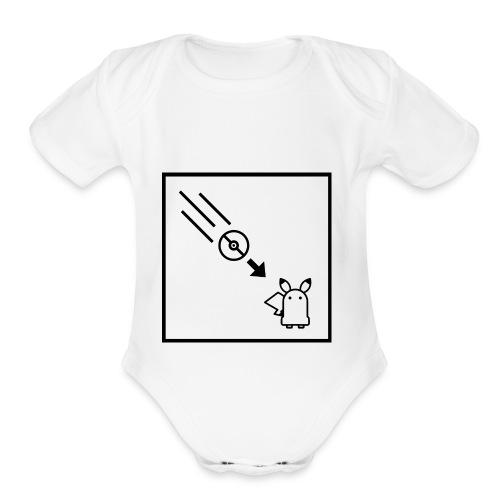 Portal - Pocket Monsters Mashup - Organic Short Sleeve Baby Bodysuit