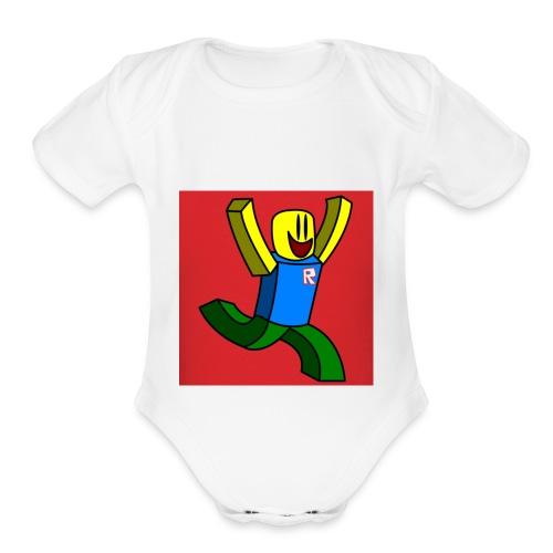 Roblox Noob - Organic Short Sleeve Baby Bodysuit