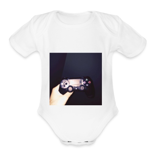 Playstation nights - Organic Short Sleeve Baby Bodysuit