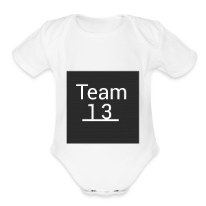 team 13 merch - Short Sleeve Baby Bodysuit