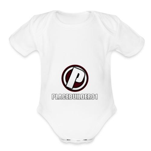 PlaceBuilder01 Merchandise Logo - Organic Short Sleeve Baby Bodysuit