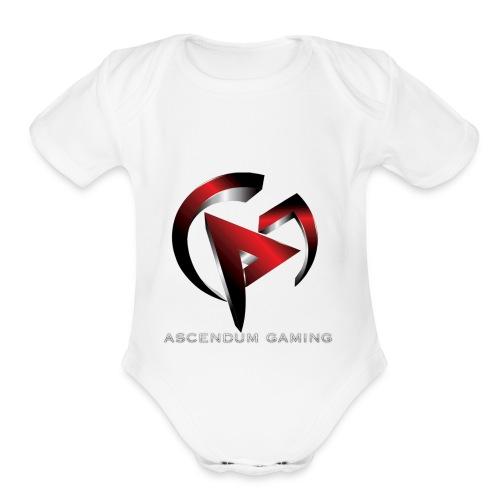 Ascendum Gaming Logo - Organic Short Sleeve Baby Bodysuit