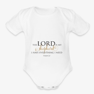 The Lord is My Shepherd - Short Sleeve Baby Bodysuit