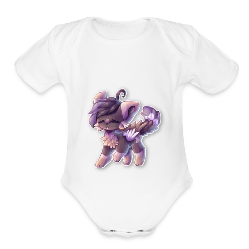 funny cat - Organic Short Sleeve Baby Bodysuit