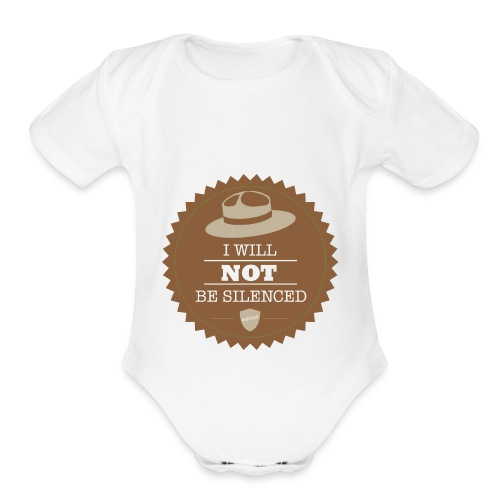 Not be Silenced - Organic Short Sleeve Baby Bodysuit
