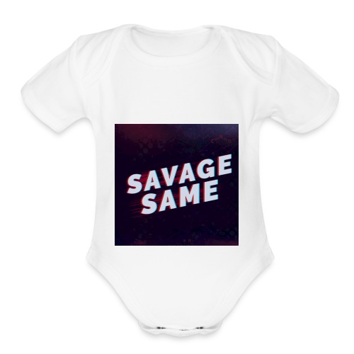 Real Savage - Organic Short Sleeve Baby Bodysuit