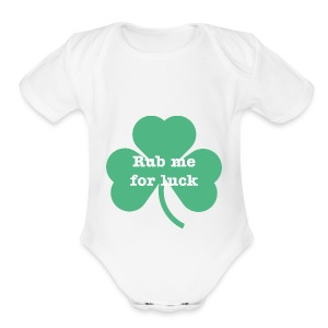 Rub me for luck - Short Sleeve Baby Bodysuit