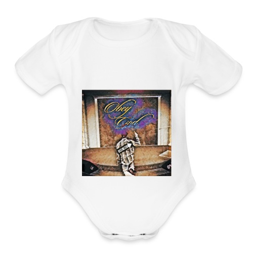 Obey God - Organic Short Sleeve Baby Bodysuit