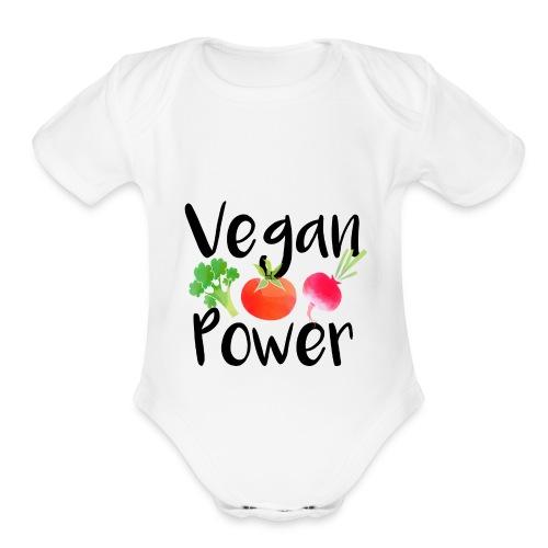 Vegan Power Baby Gift - Organic Short Sleeve Baby Bodysuit
