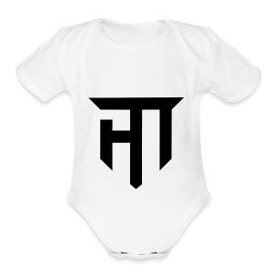 HoMie Black - Short Sleeve Baby Bodysuit