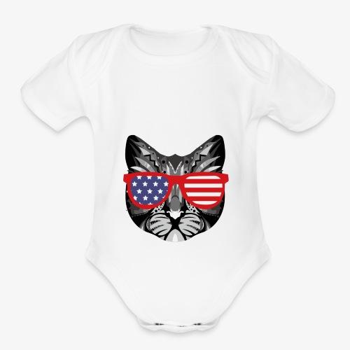 meowica - Organic Short Sleeve Baby Bodysuit
