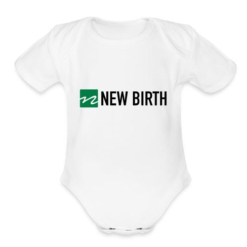New Birth Logo - Organic Short Sleeve Baby Bodysuit