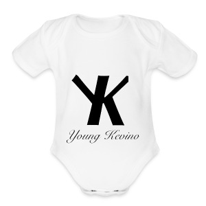 Young Kevino Official Logo (Black) - Short Sleeve Baby Bodysuit