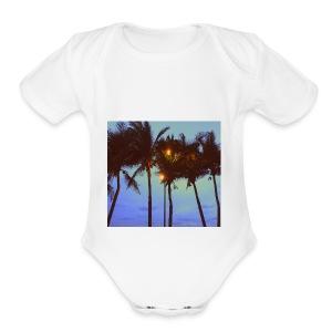 Palm Trees - Short Sleeve Baby Bodysuit