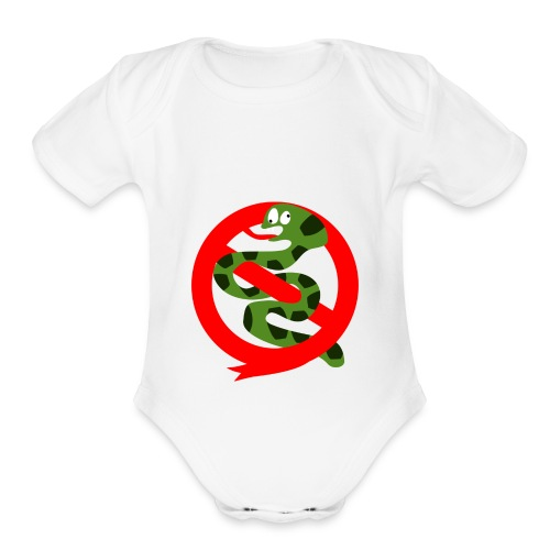 Official Unofficial Hoggorm Busters Logo - Organic Short Sleeve Baby Bodysuit