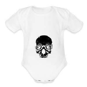 Skull rose - Short Sleeve Baby Bodysuit