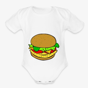 Comic Burger - Short Sleeve Baby Bodysuit
