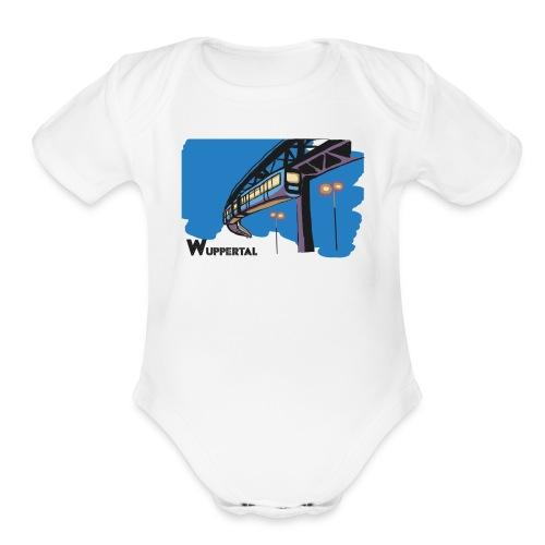Schwebebahn,Wuppertal - Organic Short Sleeve Baby Bodysuit