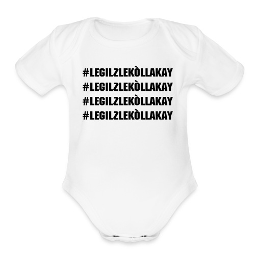 3Ls Black - Organic Short Sleeve Baby Bodysuit