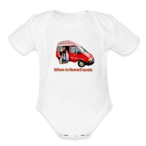 big red - Short Sleeve Baby Bodysuit