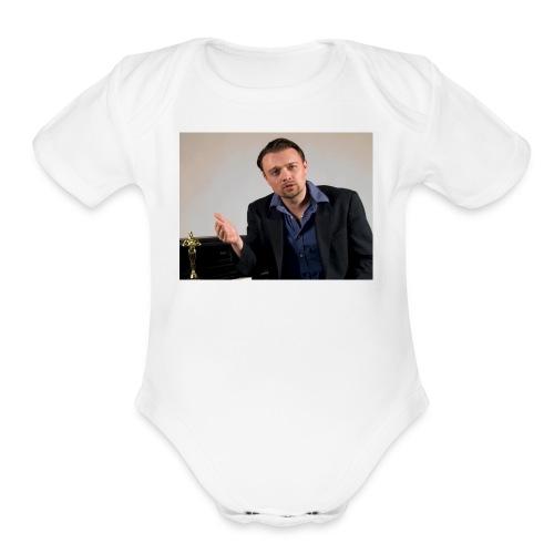 Justin Stoney as Leonardo - Organic Short Sleeve Baby Bodysuit