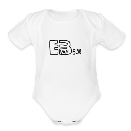 Evan3690 Logo - Organic Short Sleeve Baby Bodysuit