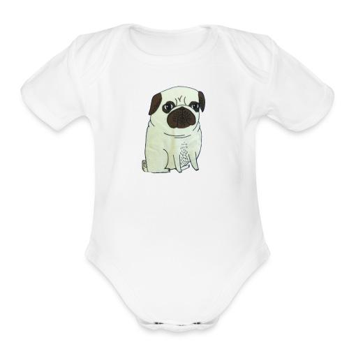 Pugs not drugs - Organic Short Sleeve Baby Bodysuit