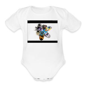 Skate board - Short Sleeve Baby Bodysuit