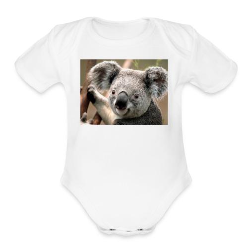 the koala shirt - Organic Short Sleeve Baby Bodysuit