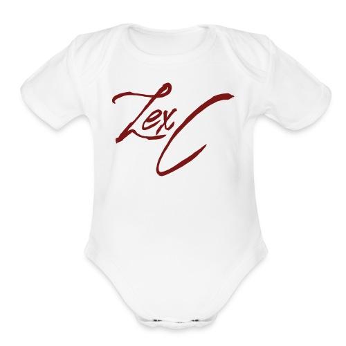 LexC Logo - Organic Short Sleeve Baby Bodysuit