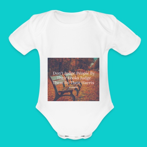 Don't Judge by their look - Organic Short Sleeve Baby Bodysuit