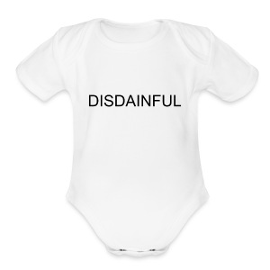DISDAINFUL White - Short Sleeve Baby Bodysuit