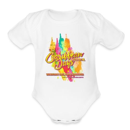 Caribbean Days Festival = Hot! Hot! Hot! - Organic Short Sleeve Baby Bodysuit