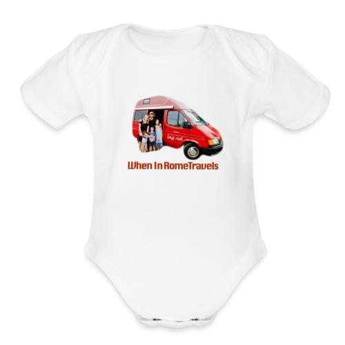 big red - Organic Short Sleeve Baby Bodysuit