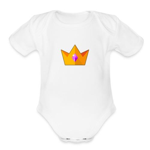 Royalty Crown - Organic Short Sleeve Baby Bodysuit