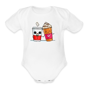 Coffee Love - Short Sleeve Baby Bodysuit