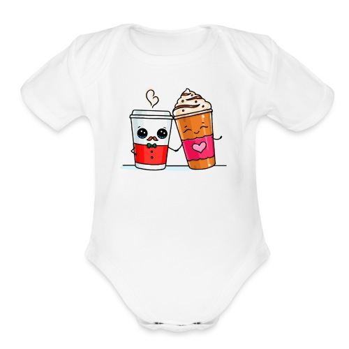 Coffee Love - Organic Short Sleeve Baby Bodysuit
