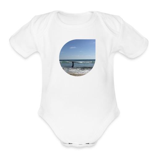 Floating sand - Organic Short Sleeve Baby Bodysuit