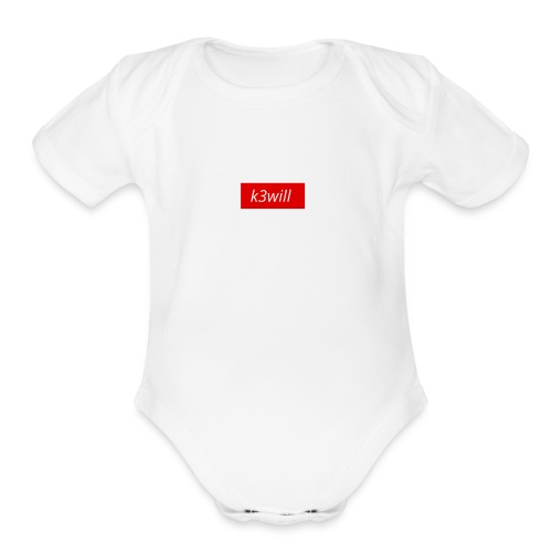spread shirt sucks - Organic Short Sleeve Baby Bodysuit