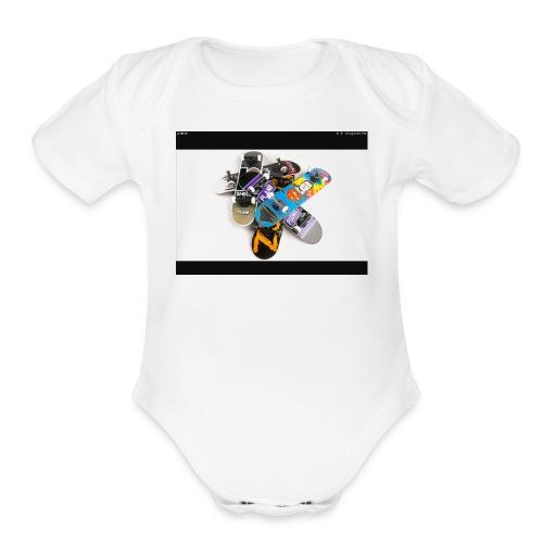 Skate board - Organic Short Sleeve Baby Bodysuit