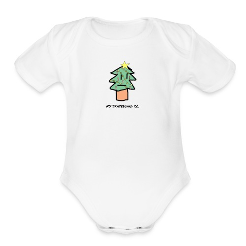 Christmas Logo - Organic Short Sleeve Baby Bodysuit