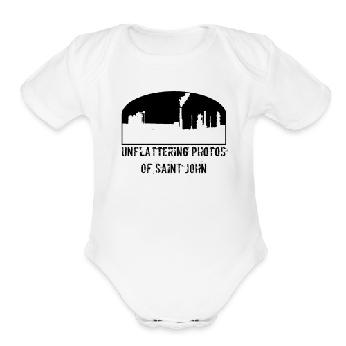 Unflatter SJ Full Logo - Organic Short Sleeve Baby Bodysuit