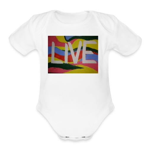 @filtre3 - Be Live - Design can be customized - Organic Short Sleeve Baby Bodysuit