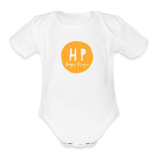 Happy Playces Logo - Organic Short Sleeve Baby Bodysuit