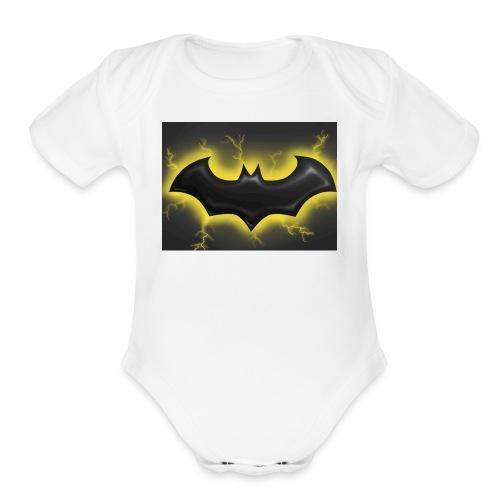 batman symbol by mushroomproductions d3d6cxs - Organic Short Sleeve Baby Bodysuit