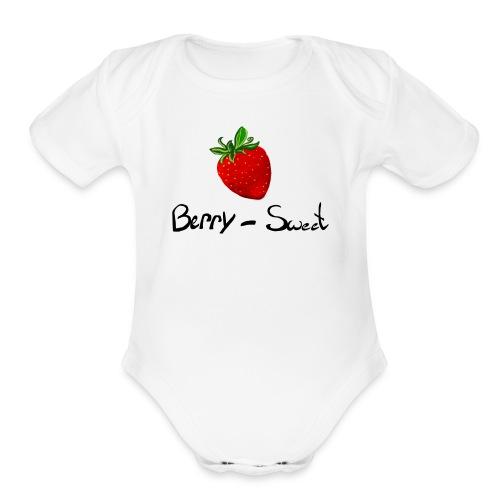 Berry Sweet - Organic Short Sleeve Baby Bodysuit