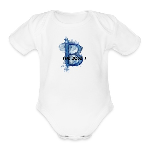 THE BLUE 1 - Organic Short Sleeve Baby Bodysuit